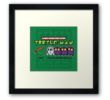 Hero in a Pac-Shell (Mikey) Framed Print