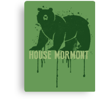 Mormont House Game of Thrones Shirt Canvas Print