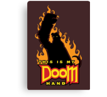 This is My Doom Hand Canvas Print