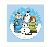 Want to Build a Snowman? Art Print