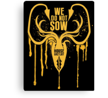 Greyjoy House Game of Thrones Shirt Canvas Print