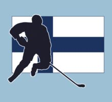 I Love Suomi ~ Finland Hockey Flag T-Paidat Shirt Kids Clothes