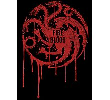 Targaryen House Game of thrones Shirt Photographic Print