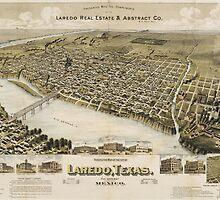 Vintage Pictorial Map of Laredo Texas (1892)  by BravuraMedia