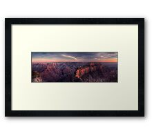 Dusk Along the North Rim Framed Print