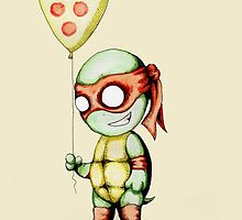 Mikey Pizza Balloon  by LVBART