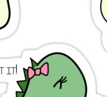 Itchy Head Dinos!  Sticker