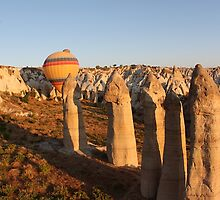 Sunshine Kisses The Balloons, Goreme, Turkey by Carole-Anne