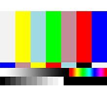 HD SMPTE TV Test Run Photographic Print