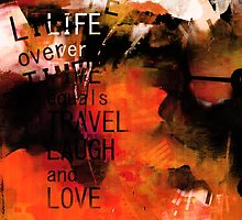 Orange Life Time Travel Laugh Love by Ian Mooney