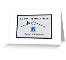 Mont Ventoux Cycling Road Sign Tour De France Greeting Card