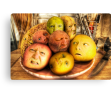 The madness of fruit Canvas Print