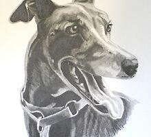 Black Greyhound by debidavisart