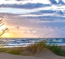 Sunset at the Dutch coast by AlexFHiemstra