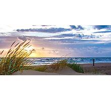 Sunset at the Dutch coast Photographic Print