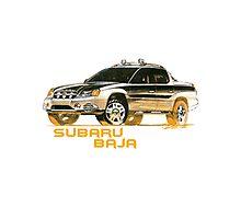 Subaru Baja Pickup Ute 2  Photographic Print