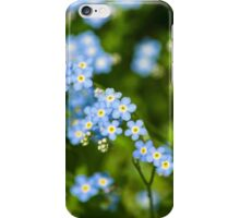 Abstract Wildflowers Forget me nots iPhone Case/Skin