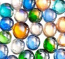 multicolored glass balls or marbles by Arletta Cwalina