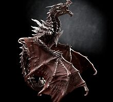 One Alduin dragon from Skyrim game  by Arletta Cwalina