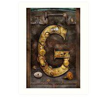 Steampunk - Alphabet - G is for Gears Art Print