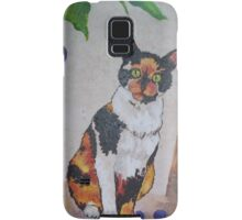 Calico Cat painting and part of Spankypants Samsung Galaxy Case/Skin