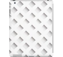 Abstract geometric 3D background, stripes and squares iPad Case/Skin