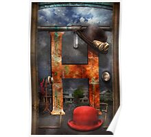 Steampunk - Alphabet - H is for Hats Poster