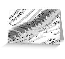 Piano Music Greeting Card