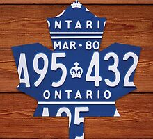 Toronto Maple Leafs Industrial License Plate Art - Cherry by Route401