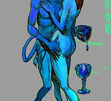 Erotic art Devil art in fluorescent vibrant colours by tanabe