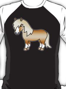 Palomino Shetland Pony Cartoon Illustration T-Shirt