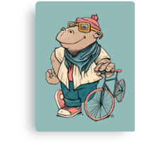 Hipster Hippo Canvas Print