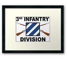 3rd Infantry Division - Crossed Rifles Framed Print