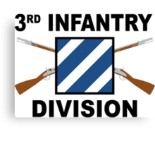 3rd Infantry Division - Crossed Rifles Canvas Print