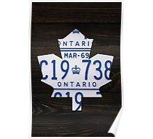 Toronto Maple Leafs Vintage License Plate Art - Ebony Stain Poster
