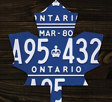 Toronto Maple Leafs Industrial Mixed Media Art - Ebony Stain by Route401