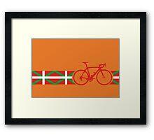 Bike Stripes Basque Framed Print