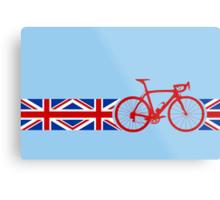 Bike Stripes Union Jack Metal Print