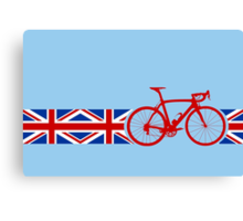 Bike Stripes Union Jack Canvas Print