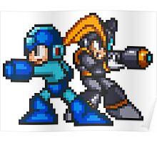 Megaman And Bass Poster