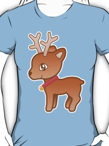 Cute Cartoon Christmas Reindeer T-Shirt
