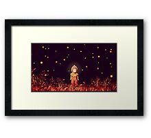 grave of the fireflies (la tumba de las luciérnagas) Framed Print
