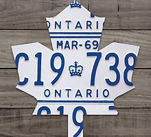Toronto Maple Leafs Wood Plank License Plate Art - Grey by Route401