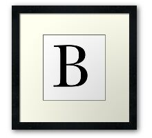 The Letter 'B' Framed Print