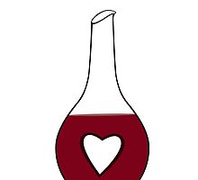 Heart Decanter (I heart red wine) by Riftwing Designs
