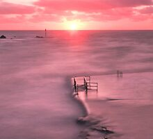 Bude, Cornwall, UK, Tidal Pool Sunset ~ Atlantic Coast by Debra  Jayne