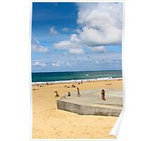 Kids Having Fun on the Beach - Hossegor, France Poster