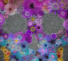 Sugar Skull Made Of Flowers Sticker