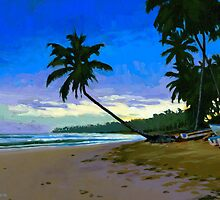 Sunset in Las Terrenas by Douglas Simonson
