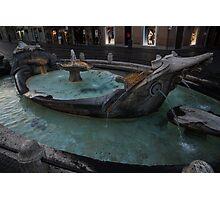 Rome's Fabulous Fountains - Fontana della Barcaccia, Spanish Steps  Photographic Print